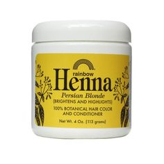 Rainbow Research Henna Botanical Hair Color and Conditioner, Persian Blonde, 4 Ounce >>> Read review @