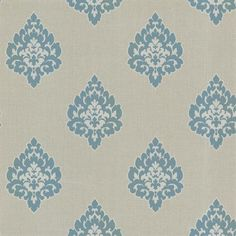 Gemini Damask Blue Wallpaper