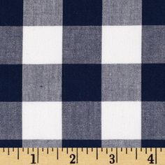 Kaufman 1'' Carolina Gingham Navy from @fabricdotcom  From Kaufman, this woven yarn dyed gingham fabric is great for blouses, dresses, skirts and children's apparel. It can also be used for quilting projects. Checks measure 1'' and the horizontal and vertical plaid repeat is 2''. Colors include white, chambray and navy.