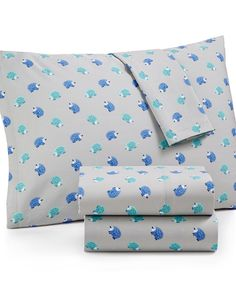 Martha Stewart Whim Collection Novelty Print Cotton Percale Full Sheet Set, Only at Macy's - Sheets - Bed & Bath - Macy's
