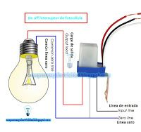 Esquemas eléctricos: Esquema eléctrico on off interruptor fotocélula