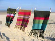Row pinto cashmere scarves