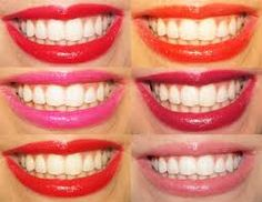 Applying #lipsticks that are oriented in shades of orange, #teeth may be more or less white. If in fact you have white teeth of nature, to enhance the color white, you'll always apply a bright red lipstick that will make the white even brighter. Little fleshy lips and bright red lipstick will be the right choice for white teeth. For those who have teeth slightly less white, orange can be the best choice. Orange with its shades will make your teeth whiter and brighter.