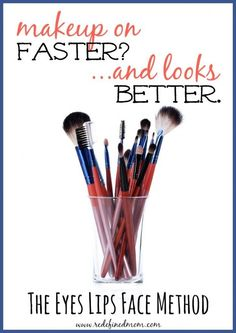 A faster way to put on your makeup has arrived! The Eyes Lips Face Makeup Method | http://RedefinedMom.com