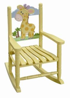 The perfect baby shower gift, the gorgeous Safari kids Giraffe rocking chair. Rocking Chair Nursery, Wooden Rocking Chairs, Childrens Rocking Chairs, Baby Chair, Wooden Rocker, Giraffe Nursery, Safari Nursery, Giraffe Baby, Giraffe Print