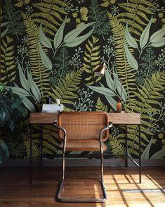 Botanical Greenery Peel and Stick Wallpaper - Fern Wallpaper Mural - Self Adhesive Wallpaper - Removable Wallpaper - Easy DIY Wall Mural b08