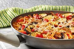 All-in-One Spaghetti Frittata Recipe - Kraft Recipes Best Egg Recipes, Healthy Egg Recipes, Healthy Cooking, Italian Recipes, What's Cooking, Pasta Recipes, Healthy Food, Favorite Recipes, Kraft Foods