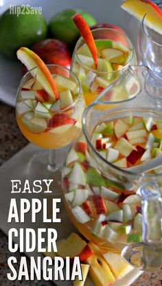 Fall Inspired Apple Cider Sangria (Only 4 Ingredients) – Hip2Save