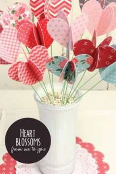Printed <3 Blossoms | #pebblesinmypocket http://www.pebblesinmypocket.com/2014/01/valentine-blossoms.html