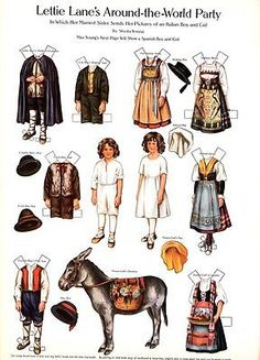 Lettie-Lane-Around-the-World-Paper-Dolls-by-Sheila-Young-Full-Color-1981-NM-MT