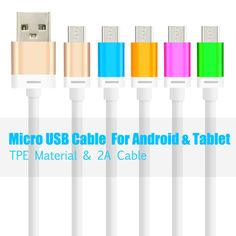 Micro USB Data Charger Cable for Samsung For HTC For Lenovo Mobile Phone charger cable Shipping Boxes, Screen Protector, Cable, Usb, Samsung, Phone Chargers, Phones, Electronics, Shipping Crates