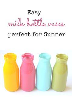 Milk Bottle Vases -