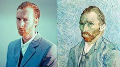 remake fotografia y pintura - BúsquedadeGoogle Vincent Van Gogh, American Gothic, Van Gogh Self Portrait, Tableaux Vivants, Famous Portraits, Famous Artwork, Vida Real, Colossal Art, Classic Paintings