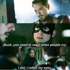 Avengers Humor, Funny Marvel Memes, Marvel Jokes, Marvel Dc Comics, Marvel Avengers, Bucky Barnes, Loki Thor, Sebastian Stan, Winter Soldier Funny