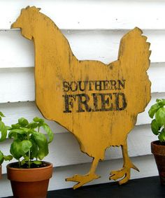Take a look at this 'Southern Fried' Chicken Wall Art by Slippin' Southern on #zulily today!