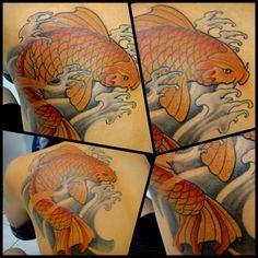 Koi tattoo, Bruno Lanca.