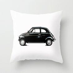 dream car Throw Pillow by Steffi by findsFUNDSTUECKE - $20.00 #love #italian #fiat #500