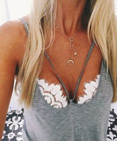 A cute bralette is the PERFECT accessory to turn up an outfit! Love it! #fashion #style #bralette