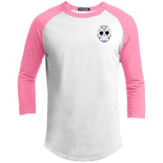 Sugar Skull Unisex Sporty Tee Shirt