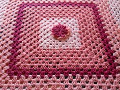 Crochet Afghan Squares | Baby Blanket Crochet Pink Granny Square Afghan by alisunflowers