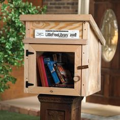I think this is one of the best ideas I've seen.  If people aren't nimrods about stealing the books.