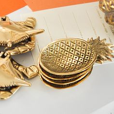 Emily McCarthy Small Brass Pineapple Dish 3