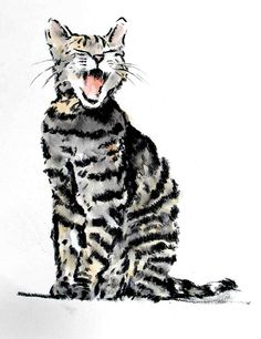 Meaw Cat Art by????