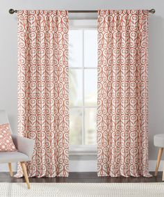 Another great find on #zulily! Rust Clinton Flocked Curtain Panel - Set of Two by Victoria Classics #zulilyfinds
