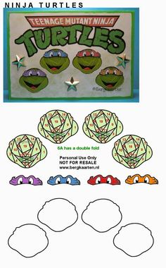 Irisvouwen: Ninja Turtles