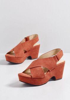 Until Tomorrow Platform Heel in - Shoe Fashions 2019 Trendy Shoes, Platform Pumps, Shoe Collection, Shoe Brands, Modcloth, Business Women, Clogs, Fashion Shoes, Wedges
