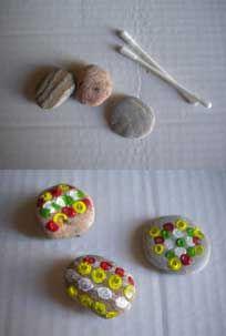Piedras decoradas para decorar tu escritorio, tus macetas,...
