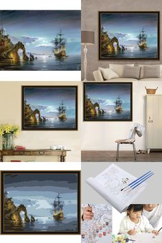 [Visit to Buy] 40*30cm Painting  Drawing By Numbers Coloring By Numbers Decoracion Hogar DIY Wall Pictures For Bedroom Cuadros De Lienzo #Advertisement