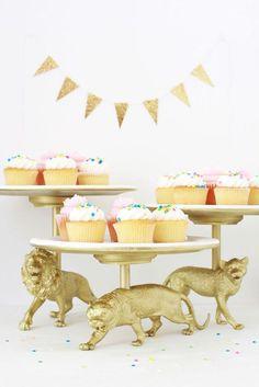 Inspiração de projeto Faça você mesmo: miniaturas douradas de animais. Super fofo e bem fácil de fazer!