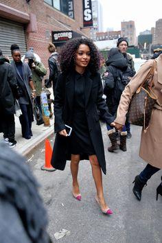 The beautiful Yara Shahidi was fabulously leaving the DKNY Fashion Show in NYC.