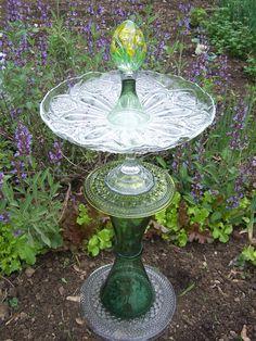 Glass Garden Sculpture - Name:  Daisy's Dance