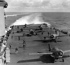 Carrier U.S.S. Hornet at the Battle of Midway, WWII