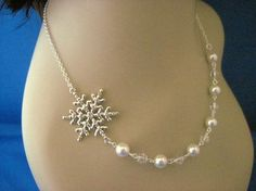 Winter wedding necklace