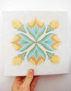 aesthetic outburst bargello this embroidery Broderie Bargello, Bargello Needlepoint, Bargello Quilts, Needlepoint Stitches, Needlework, Cross Stitch Material, Cross Stitch Embroidery, Embroidery Patterns, Ribbon Embroidery