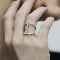 """Nadine"" Diamond Multi Band Ring"