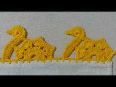 Crochet Edging Patterns, Crochet Borders, Embroidery Patterns Free, Crochet Lace, Crochet Stitches, Free Crochet, Saree Kuchu Designs, Crochet Videos, Micro Macrame