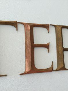 MDF letters met een koper afwerking Sign, Marketing, Frame, Decor, Picture Frame, Decoration, Signs, Decorating, Frames