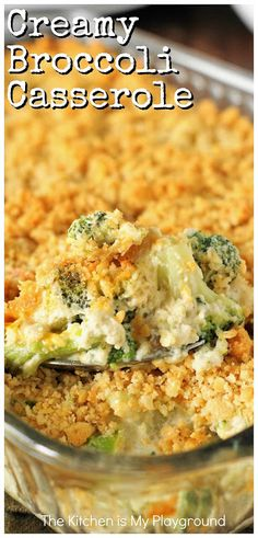 Delicious Dinner: Creamy Broccoli Casserole is a family-favorite, indeed. With its cheesy broccoli goodness and buttered cracker crumb topping, what's not to love? It's a perfect side for the holidays or any day! Easy Casserole Recipes, Casserole Dishes, Chicken Casserole, Thanksgiving Recipes, Holiday Recipes, Vegetable Casserole, Velveeta Broccoli Casserole, Recipe For Broccoli Casserole, Broccoli Cassarole