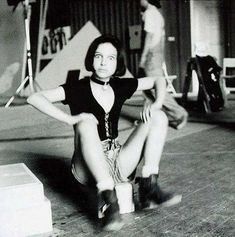 Natalie Portman during the filming of Leon