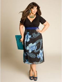 Plus Size Day Dresses For The Casual Events by #IGIGI i would wear this to work or out for drinks