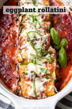 Eggplant Rollatini (Lightened Up): A lighter version of the classic eggplant rollatini, this Italian recipe is still an ultimate comfort food! #eggplant #rollatini #vegetarian #comfortfood #glutenfree Slow Cooker Recipes, Low Carb Recipes, Healthy Recipes, Healthy Chef, Dinner Healthy, Eggplant Rollatini Recipe, Comfort Food List, Homemade White Bread, Eggplant Recipes