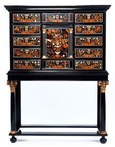 An Important Cabinet, with Rich Flower Intarsia attributed to the Workshop of Pierre Gole (1620-1685) - Alain.R.Truong