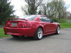 1999 Mustang GT Burgundy rear view