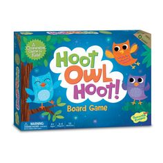 Find amazing Peaceable Kingdom Hoot Owl Hoot Award Winning Cooperative Matching Game for Kids owl gifts for your owl lover. Family Board Games, Board Games For Kids, Games For Toddlers, Time Games, Fun Games, V Smile, Preschool Board Games, Preschool Math, Preschool Alphabet