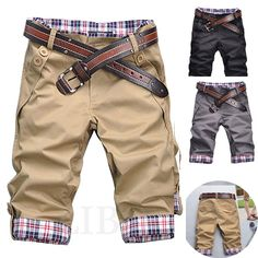 short pants on sale at reasonable prices, buy 2016 men's shorts casual fashion summer short trousers cargo shorts men big size short pants 7 colors from mobile site on Aliexpress Now! Casual Jeans, Men Casual, Linen Beach Pants, Little Boy Fashion, Shorts With Pockets, Fashion Pants, Men Fashion, Kids Wear, Boy Outfits