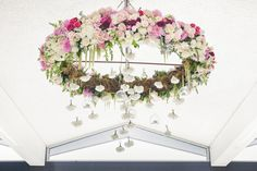 Floral chandelier by Hello Blossoms in Sorrento